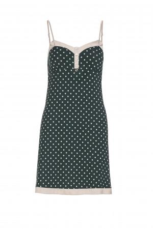 Vamp - Elegantní dámská noční košilka 13216 - Vamp green scarab l