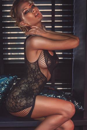 Erotická košilka Anais Adios Černá L /
