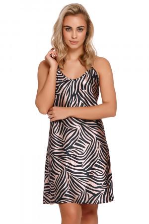 Dámská noční košilka Dn-nightwear TM.9994 zebra mono m