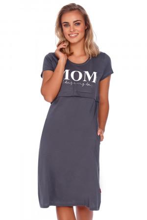 Těhotenská/kojící noční košile Dn-nightwear TCB.4200 grafit xl
