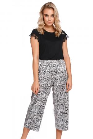 Dámské pyžamové kalhoty Dn-nightwear SPO.4233 Černá l