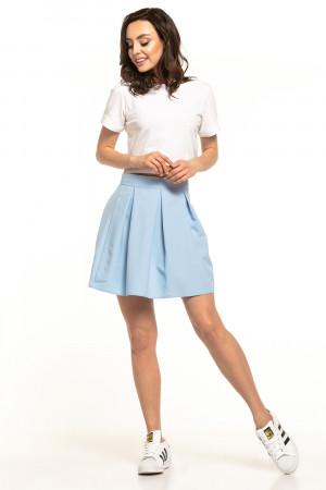 Dámská krátká sukně T316 - Tessita světle modrá S-36