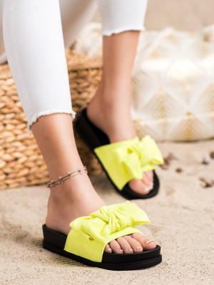 Trendy zlaté dámské  nazouváky bez podpatku
