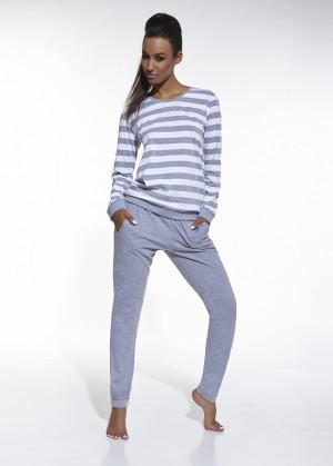 Dámské pyžamo Cornette 634/30 Molly dl/r bílý