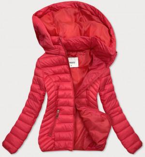 Lehká červená dámská bunda (B0102) Červené S (36)