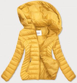 Lehká žlutá dámská bunda (R0102) Žlutá S (36)