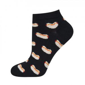 Vzorované ponožky GOOD STUFF - Hotdog Černá 40-45