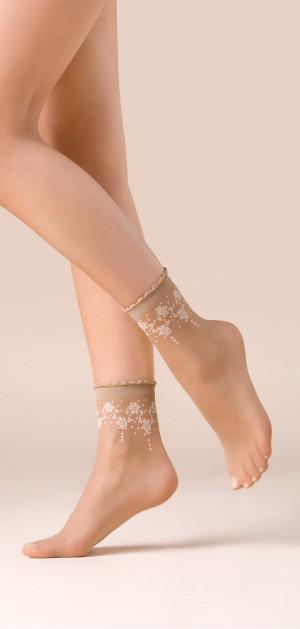 Tenké vzorované ponožky BLOOM