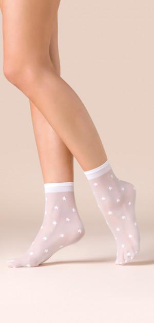 Tenké vzorované ponožky STARS