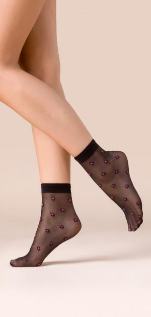 Tenké vzorované ponožky STARS COLOR