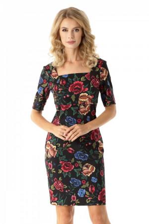 Dámské šaty ED027 - Ella Dora  černá- MIX barev