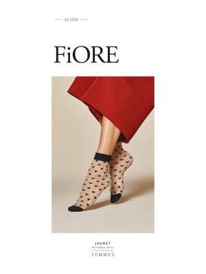 Dámské ponožky Fiore G 1042 Jeunet 20 den černá / černá Univerzální