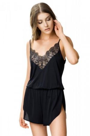 Visti 6391 Laura Dámské pyžamo-overal 44 černá
