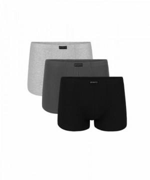 Atlantic 3BMH-007 černé/šedé/grafitové Pánské boxerky 3 ks XXL vícebarevná
