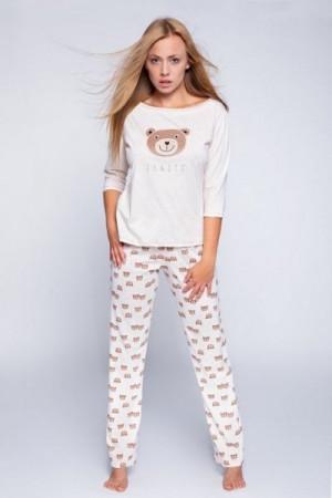 Sensis Bear Dámské pyžamo L béžová