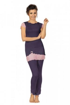 Ava PJ 3 Dámské pyžamo M fialová