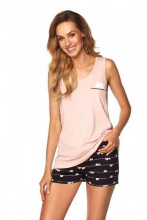 Rossli Daisy SAL-PY-1165.II růžové Dámské pyžamo L růžová