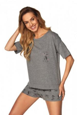 Rossli Monica SAL-PY-1168-II šedý Melange Dámské pyžamo L šedý melanž