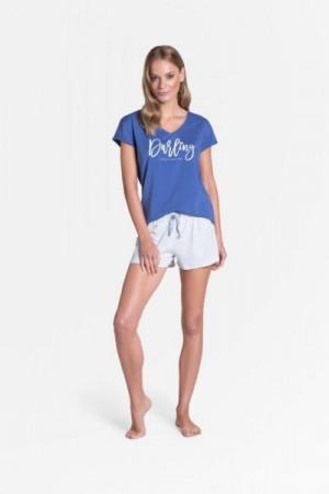 Henderson Ladies Tulip 38900-55X Dámské pyžamo L modro-šedá