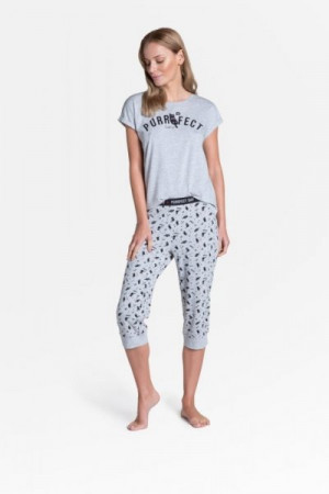 Henderson Ladies Timber Long 38903-09X Dámské pyžamo L šedá