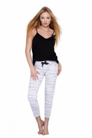 Sensis Antonella Dámské pyžamo L černo-bílá