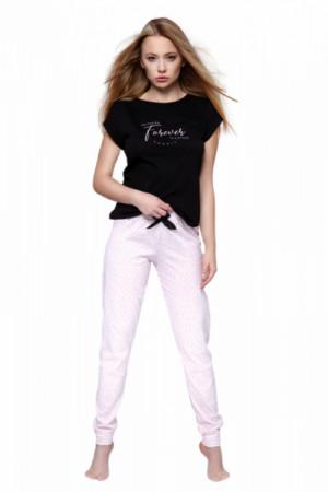 Sensis Forever Dámské pyžamo L černo-růžová