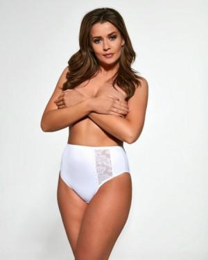 Viki 584 Kalhotky plus size XXL bílá