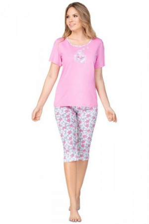 Regina 942 Dámské pyžamo plus size 3XL meruňková