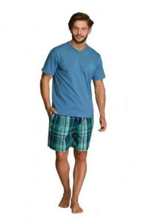 Key MNS 714 A21 Pánské pyžamo M modrá-zelená