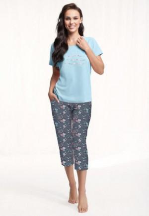 Luna 568 Dámské pyžamo 3XL 3XL modrá