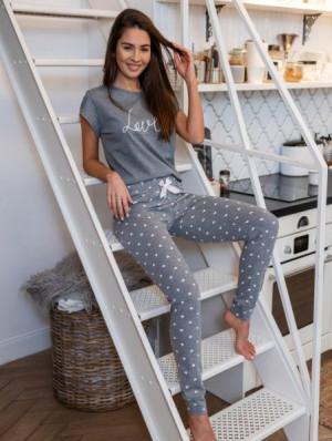 Sensis Lucia Dámské pyžamo XL Šedá