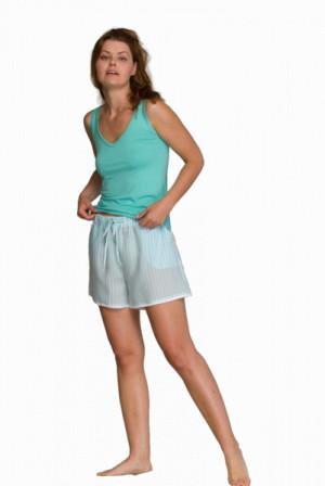 Key LNS 316 1 A21 Dámské pyžamo S tyrkysová-bílá