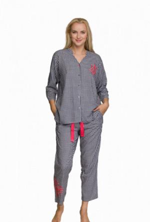 Key LNS 451 A21 Dámské pyžamo S černá-bílá