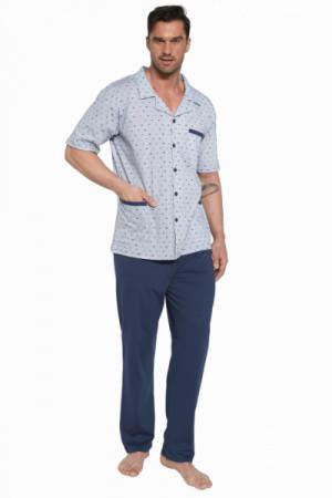 Cornette 318/40 rozepínané Pánské pyžamo XL tmavě modrá