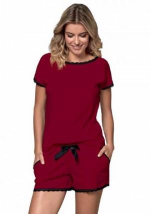 Nipplex By Night Margot Dámské pyžamo S burgund