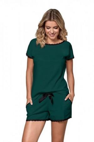 Nipplex By Night Margot zelené Dámské pyžamo M zelená