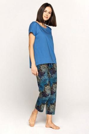 Cana 563 2XL Dámské pyžamo XXL modrá-tmavě modrá