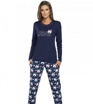 Italian Fashion Czoka tmavě modré Dámské pyžamo L tmavě modrá