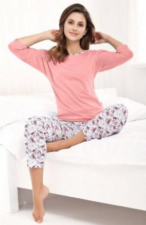 Luna 488 Plus Dámské pyžamo 3XL růžová