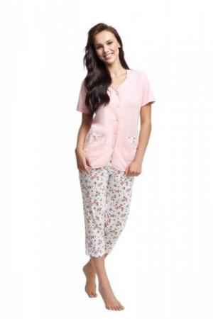 Luna 632 růžové Dámské pyžamo XL růžová