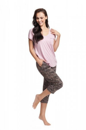 Luna 579 růžové Dámské pyžamo XL růžová