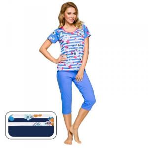 Regina 911 tmavě modré Dámské pyžamo M tmavě modrá