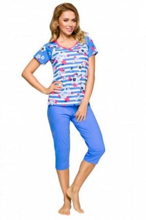 Regina 911 modré Dámské pyžamo M modrá