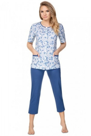 Regina 946 tmavě modré Plus Dámské pyžamo 3XL tmavě modrá