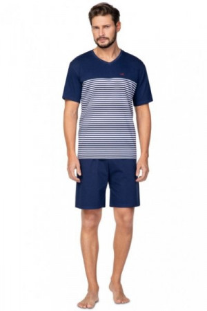 Regina 585 tmavě modré Pánské pyžamo M tmavě modrá