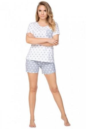 Regina 949 šedé Dámské pyžamo S bílá