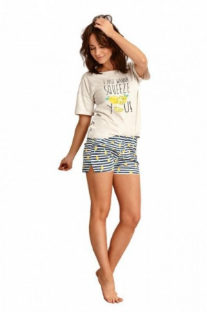 Taro Lemon 2495 béžové Dámské pyžamo M béžová