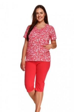 Taro Wera 924 červené Dámské pyžamo 2XL červená