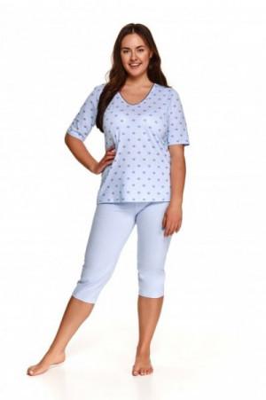 Taro Lidia 2372 modré Dámské pyžamo 2XL modrá
