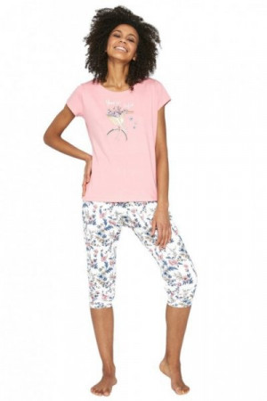 Cornette Perfect 990/198 růžové Dámské pyžamo S růžová